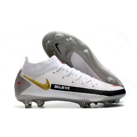 Nike Phantom GT Elite DF FG Soccer Shoes White Black Red