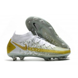 New 2021 Nike Phantom Gt Elite Df Fg - White Grey Gold