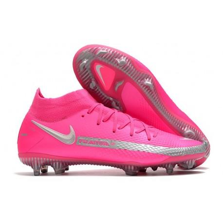 Nike Phantom GT Elite DF FG Soccer Shoes Pink Silver