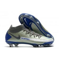 New 2021 Nike Phantom Gt Elite Df Fg - Grey Blue