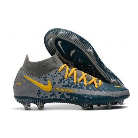 Nike Phantom GT Elite DF FG Soccer Shoes Navy Black Yellow