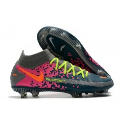 Nike Phantom GT Elite DF FG Soccer Shoes Navy Grey Pink