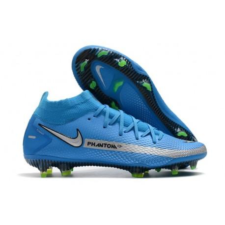 Nike Phantom GT Elite DF FG Soccer Shoes Blue Silver