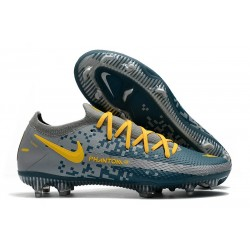 Nike Phantom GT Elite FG Firm Ground Shoes Gray Blue Yellow