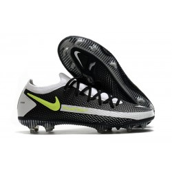 Nike Phantom GT Elite FG Mens Soccer Cleat Black Gray Yellow