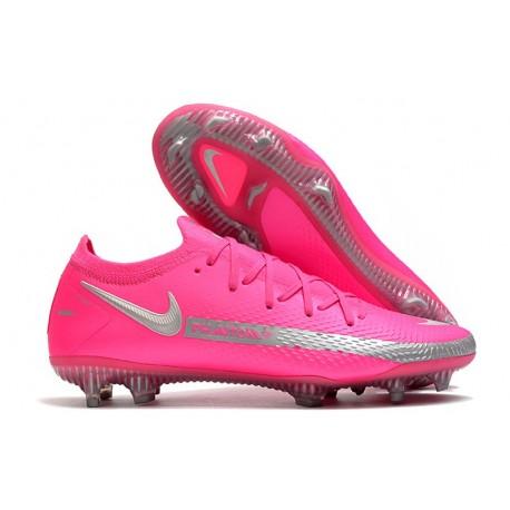 Nike Phantom GT Elite FG Firm Ground Shoes Pink Silver