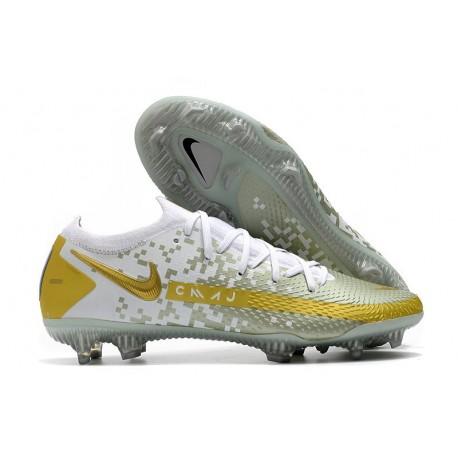 Nike Phantom GT Elite FG Firm Ground Shoes White Gold