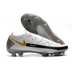 Nike Phantom GT Elite FG Firm Ground Shoes White Black Gold Red