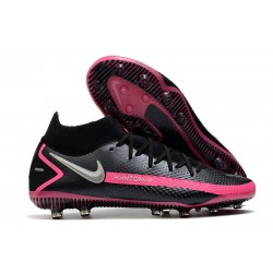 Nike Phantom GT Elite Dynamic Fit AG Black Pink Blast Metallic Silver