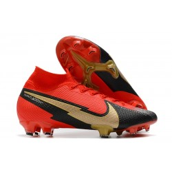Nike Mercurial Superfly 7 Elite Dynamic Fit FG Red Black Gold