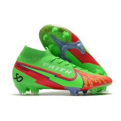 Nike Mercurial Superfly 7 Elite Dynamic Fit FG Faith Green Red
