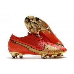 Nike Mercurial Vapor 13 Elite FG Ronaldo CR100 Red Golden