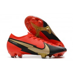 Nike Mercurial Vapor 13 Elite FG - Red Black Gold