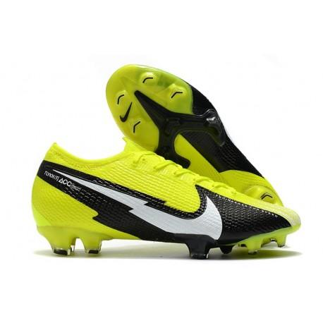 Nike Mercurial Vapor 13 Elite FG - Yellow Black White