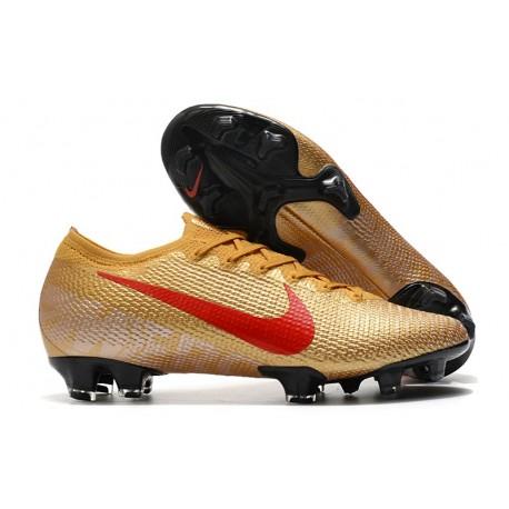 Nike Mercurial Vapor 13 Elite FG - Gold Red