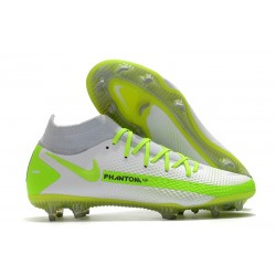 Nike Phantom GT Elite DF FG Soccer Shoes White Volt