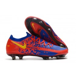 Nike Phantom GT Elite FG Firm Ground Shoes Blue Red Yellow