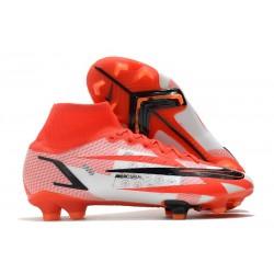 Nike Mercurial Superfly VIII Elite FG Chile Red Black White Total Orange