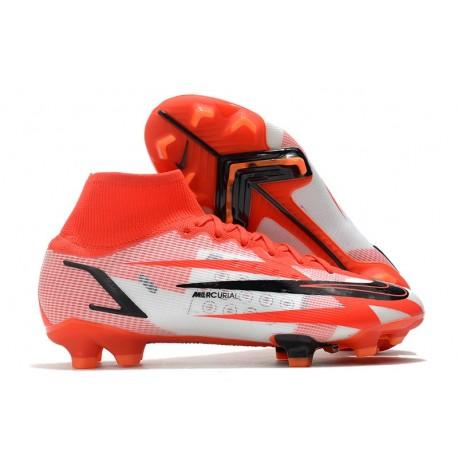 Nike Mercurial Superfly VIII Elite FG Chile Red Black White Orange