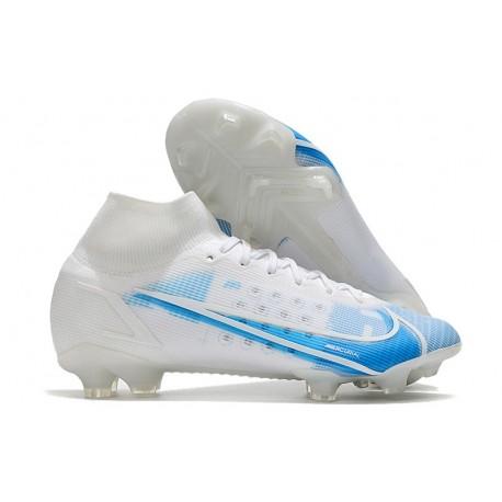 Nike Mercurial Superfly VIII Elite FG White Blue