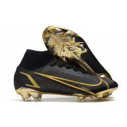 Nike Mercurial Superfly 8 Elite DF FG Black Gold