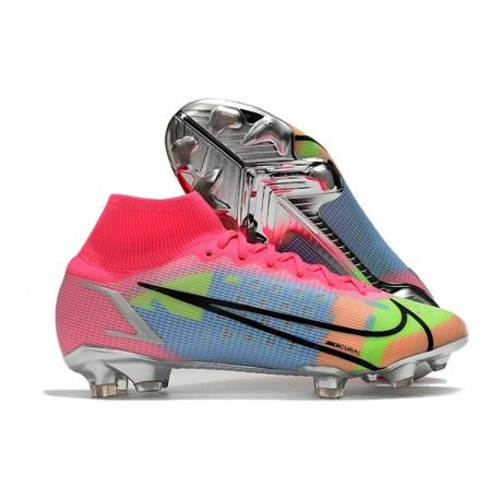Nike Mercurial Superfly 8 Elite DF FG Pink Blue Black