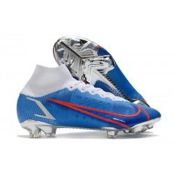 Nike Mercurial Superfly 8 Elite DF FG Blue White Red