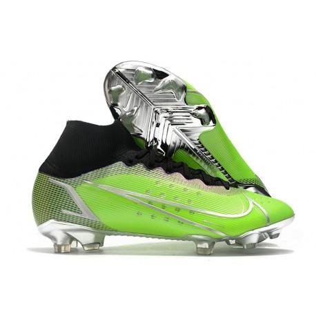 Nike Mercurial Superfly 8 Elite DF FG Green Silver