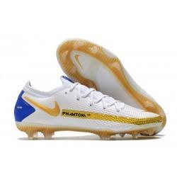 News Nike Phantom GT Elite FG White Gold Blue
