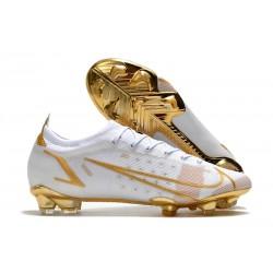 Nike Mercurial Vapor XIV Elite FG Soccer Cleats White Golden