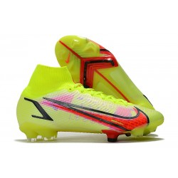 Nike Mercurial Superfly 8 Elite DF FG Volt Bright Crimson Black