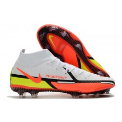 Nike Phantom GT2 Elite DF FG Boots White Bright Crimson Volt